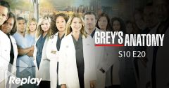 Grey's Anatomy – Saison 10 Episode 20 : Nuit blanche du 4 juin 2018 – Replay TF1